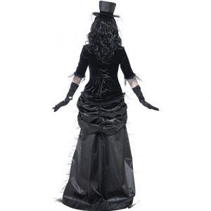 Costume femme veuve gothique fantôme dos