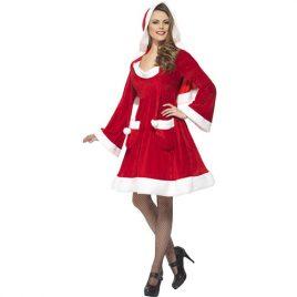 Costume femme Mère Noël des villes