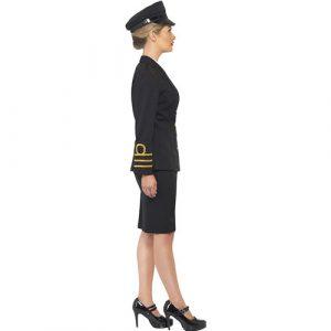 Costume femme officier de marine commander profil