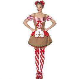 Costume femme pain d'épice Noël sexy