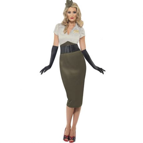 Costume femme pin-up armée seconde guerre mondiale