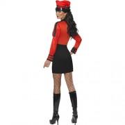 Costume femme pop star militaire dos