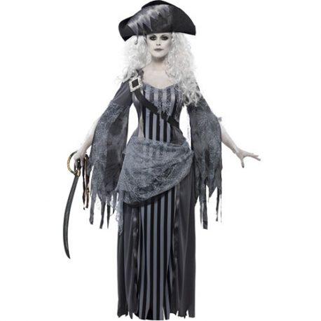 Costume femme princesse pirate de bateau fantôme
