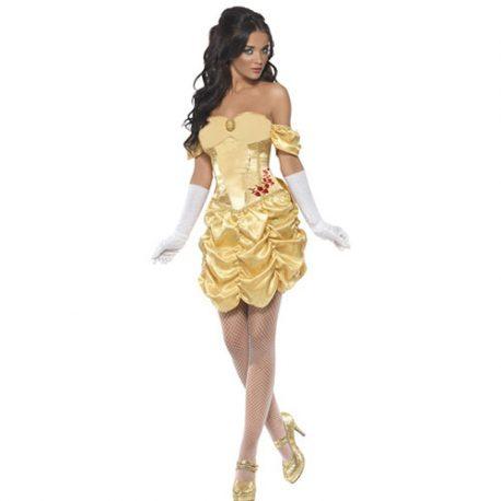 Costume femme princesse dorée sexy