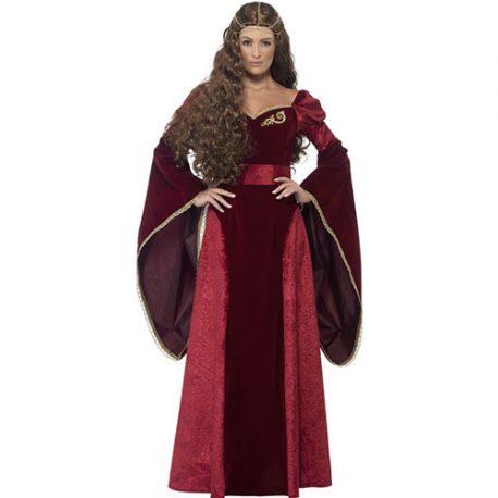 Costume femme reine médiévale luxe