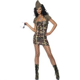 Costume femme sexy major camouflage