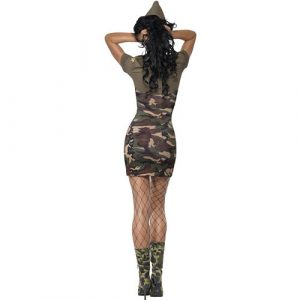 Costume femme sexy major camouflage dos