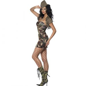 Costume femme sexy major camouflage profil