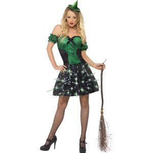 Costume femme sorcière étincelante