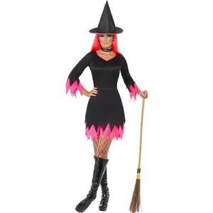 Costume femme sorcière rose