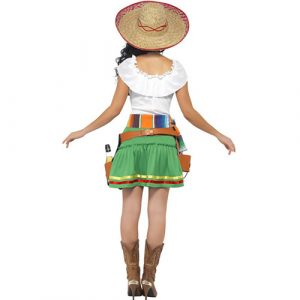 Costume femme mexicaine Tequila shooter dos
