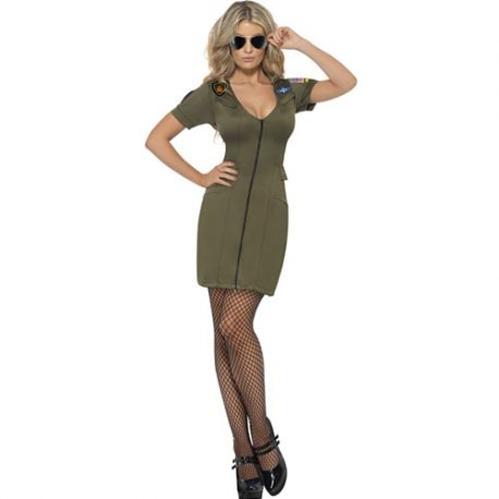 Costume femme sexy Top Gun aviator