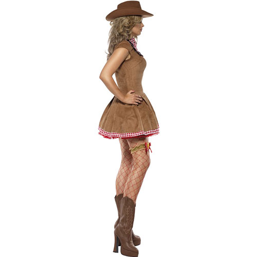 costume femme wild west cowgirl robe courte marron. Black Bedroom Furniture Sets. Home Design Ideas