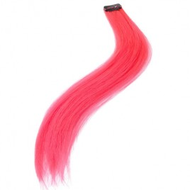Rajout extension cheveux rose