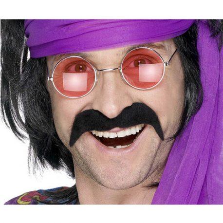 Moustache tendance hippie noire