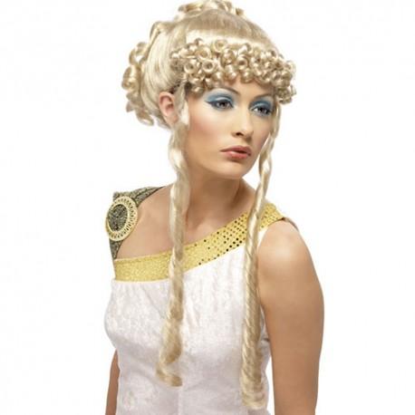 Perruque déesse grecque blonde Clementia
