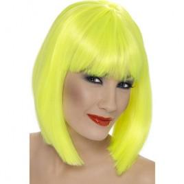 Perruque glam courte jaune