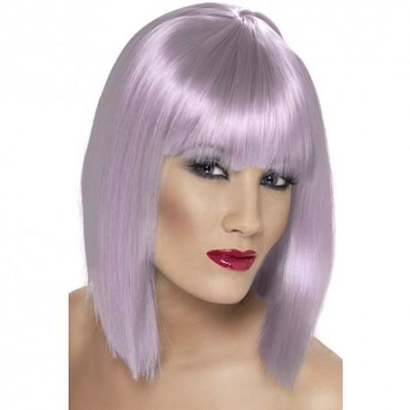 Perruque glam courte lilas