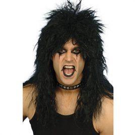 Perruque hard rock noire