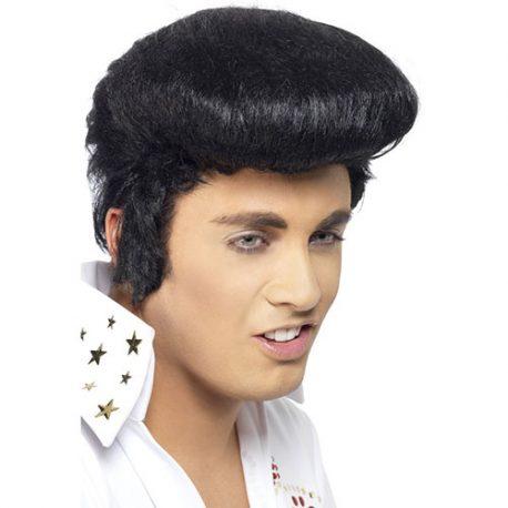Perruque King Elvis noire