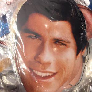 Masque en carton personnalité : Travolta
