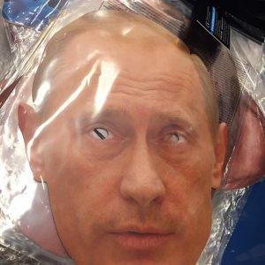 Masque en carton politique : Poutine