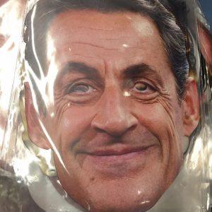 Masque en carton politique : Sarkozy