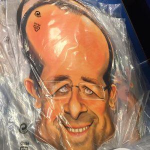 Masque en carton politique : Hollande