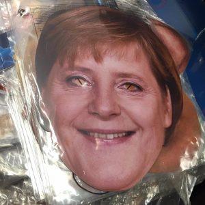 Masque en carton politique : Merkel