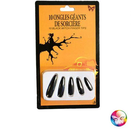 Faux ongles géants noirs