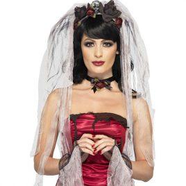 Kit mariée gothique - Accessoire de déguisement