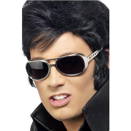 Lunettes Elvis noires argentées