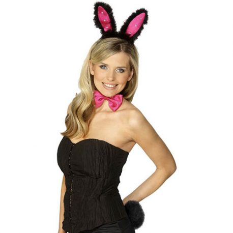 Set Bunny noir rose – Accessoire déguisement
