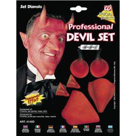 Set visage de diable - Accessoire maquillage déguisement