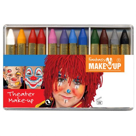 Boite crayons maquillage 12 crayons gras