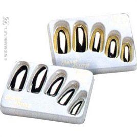 Faux ongles argents ou dorés