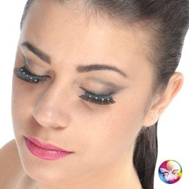 Faux cils noirs strass
