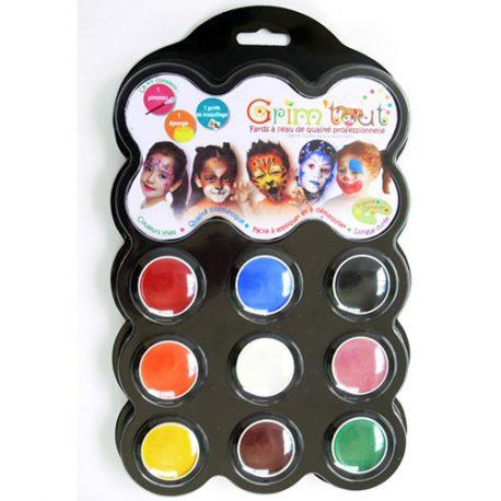 Palette maquillage 9 couleurs