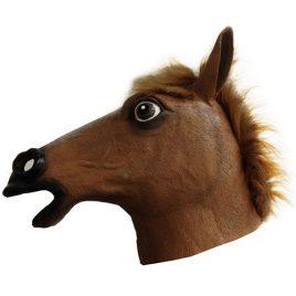 Masque de cheval avec poils latex adulte