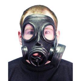 Masque gaz noir plastique adulte