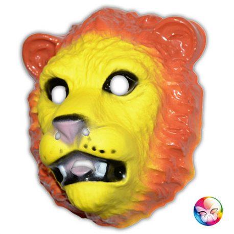Masque plastique rigide lion adulte