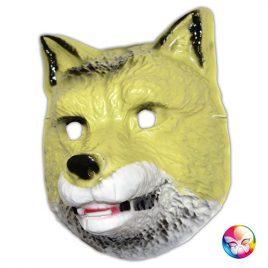 Masque plastique rigide loup adulte