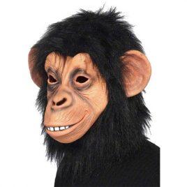Masque singe chimpanzé avec poils adulte