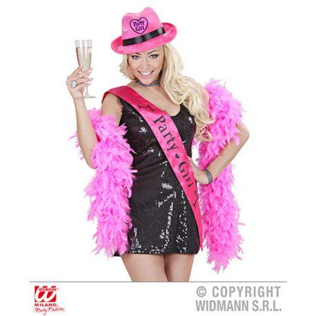 Chapeau feutrine Party Girls rose – Soirée fête filles