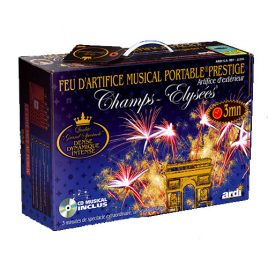 Artifice portable musical Prestige 3 minutes - feu d'artifice Prestige Champs Elysées