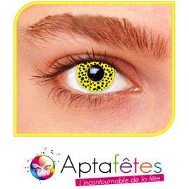 Lentilles fantaisie guépard jaune - Accessoire deguisement