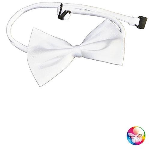 c8000224b003d Noeud papillon réglable blanc - Accessoires, deguisement pour la ...