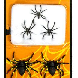 toile d'araignee blanche 10g avec 6 araignees
