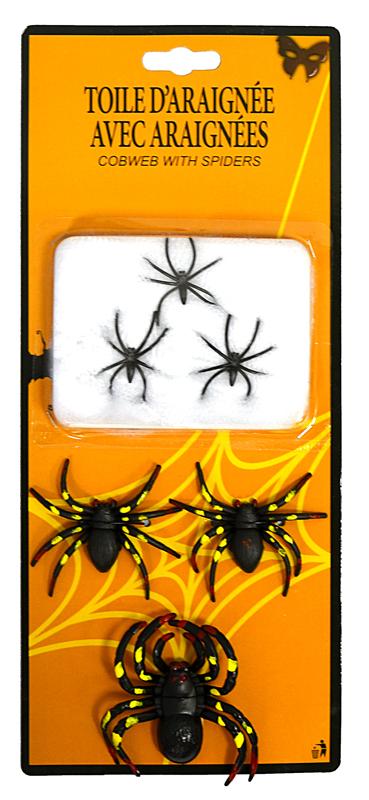 Ma d coration halloween araign e et toile d 39 araign es for Toile d araignee decoration