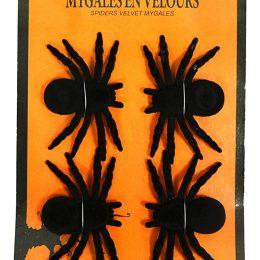 4 mygales velours noir